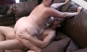 BBW is picked procession sucking and cock riding