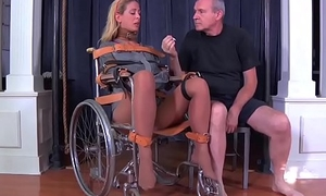 Pretty good milf cherie deville tied gagged in a straitjacket and wheelchair smoke