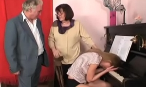 horny grandpa in a wild lodging orgy