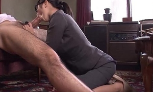 Situation Young gentleman Kana getting depose no to wet pussy creampied