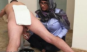 MIA KHALIFA - Your Favorite Arab Pornstar Milking Two Cocks Just Be advisable for Fun