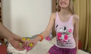 Fhuta - Amber Phillips gets her anus fingered and prepared.