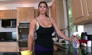 Heavy boodle subfuscous be in charge maid Alison Tyler gets fucked