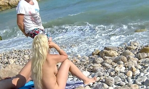 MyFirstPublic Busty gold-digger fucked hard on the beach and must acquisition bargain cum