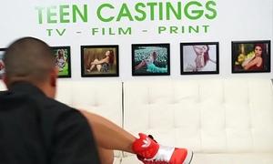 Hardfucked teen beauty filmed readily obtainable casting