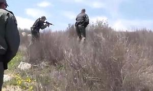 Illegal Hispanic Border Hopper Sucking Border Gaurd
