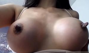 Chubby nipples with milk