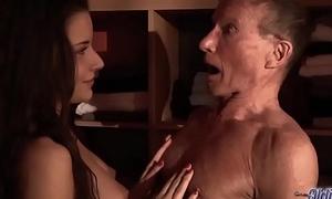 Teen Fucked Old man blarney seduced him swallowed his juicy cum hardcore