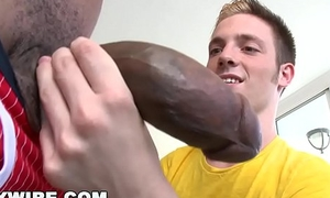 GAYWIRE - Twink Jesse Jordin Gets His Tight Ass WRECKED Wits Castro Supreme'_s Big Black Dick