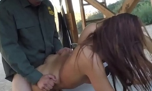 Teen arrested and fucked by black cop fake police officer threesome