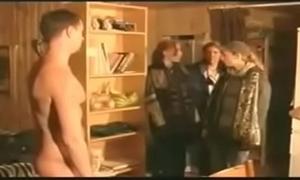 three french girls watch the guy&acute_s pee pee